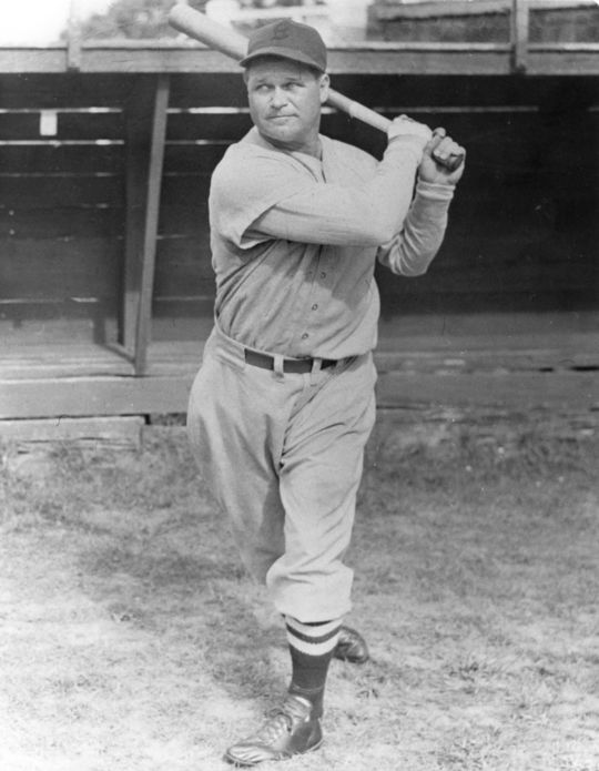 Jimmie Foxx finished his illustrious career with 534 home runs and was a .325 hitter, tallying 2,646 hits. Over his 20 seasons, he played for the Philadelphia Athletics, Boston Red Sox, Chicago Cubs and Philadelphia Phillies. (National Baseball Hall of Fame and Museum)
