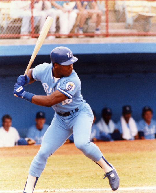 Bo Jackson played for the Kansas City Royals from 1986-1990. (National Baseball Hall of Fame and Museum)