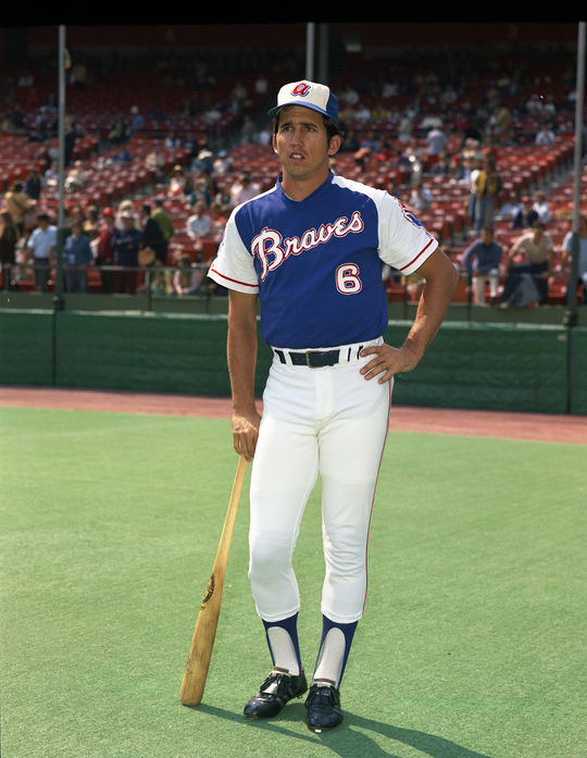 Before becoming a manager, Davey Johnson was a major league player himself. In his first season with the Atlanta Braves in 1973, he set a new single-season record for home runs by a second baseman with 43. (Doug McWilliams / National Baseball Hall of Fame)