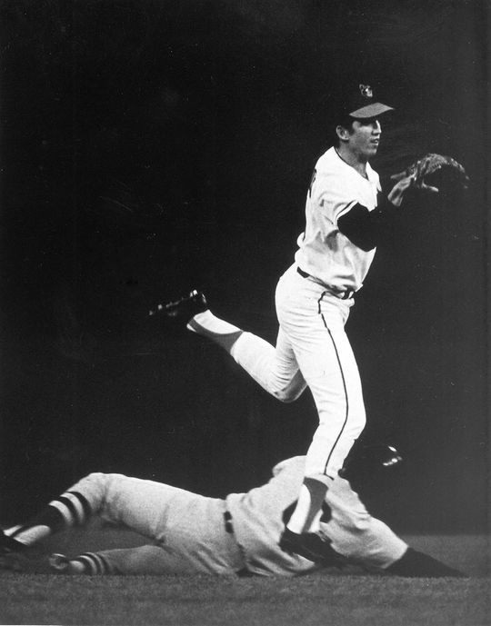 After attending Texas A&M, Davey Johnson signed with the Baltimore Orioles in 1962. Starting in 1966, he began a seven-year run as the club's starting second baseman. (National Baseball Hall of Fame)