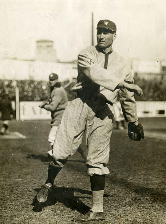 Walter Johnson's fastball was considered by his peers to be revolutionary. Was he the fastest in history? BL-6067-72 (National Baseball Hall of Fame Library)
