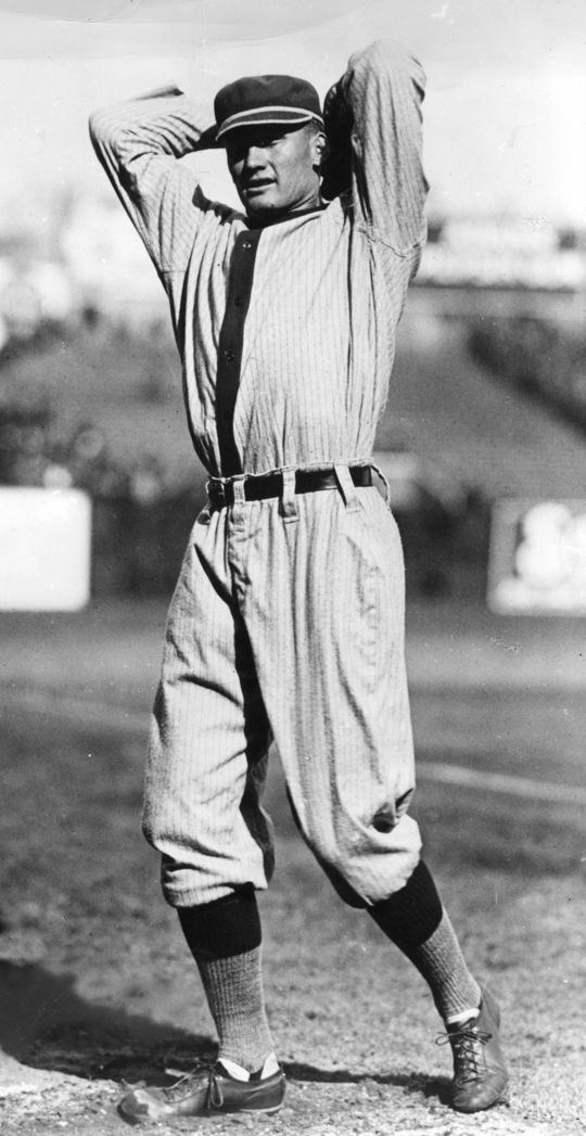 Walter Johnson played 21 years for the Washington Senators, finishing with 417 wins. (National Baseball Hall of Fame and Museum)
