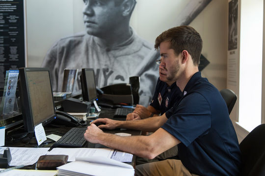 Jonathan Chodzko was a 2015 development intern in the Frank and Peggy Steele Internship Program at the National Baseball Hall of Fame and Museum. (Parker Fish / National Baseball Hall of Fame Library)