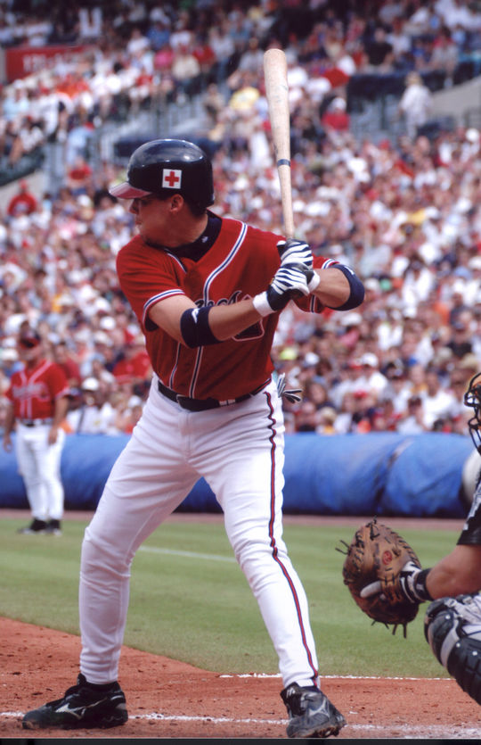 Chipper Jones' 400th home run on June 5, 2008, made him just the third switch-hitter in baseball history to reach that mark. (National Baseball Hall of Fame and Museum)