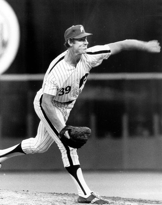 Jim Kaat of the Philadelphia Phillies pitching for his 261st win. BL-3079-78 (National Baseball Hall of Fame Library)