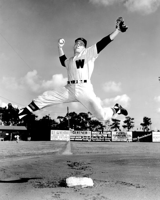 Harmon Killebrew, pictured during the Washington Senators spring training camp in 1954. (Don Wingfield / National Baseball Hall of Fame)