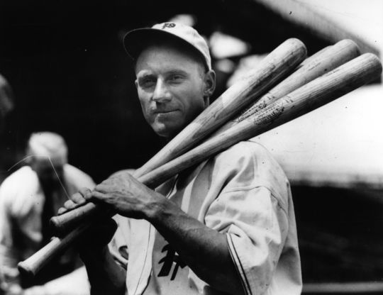 Chuck Klein was signed by the Philadelphia Phillies on July 30, 1928 and debuted that afternoon. (National Baseball Hall of Fame and Museum)
