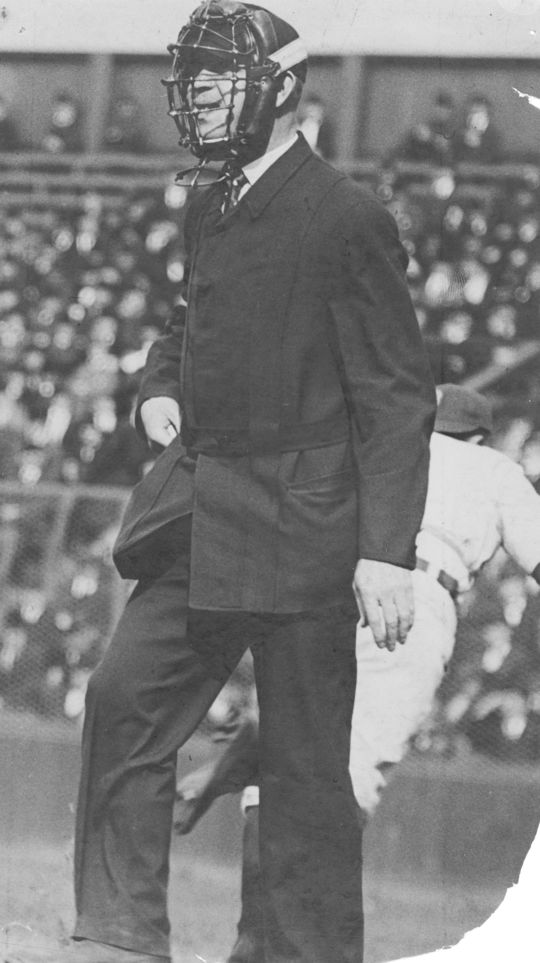 Umpire Bill Stewart had a working relationship with Hall of Famer Bill Klem (pictured above). Stewart was named supervisor of National League umpires by Ford Frick, a position formerly held by Klem,  but opted to not accept the position while Klem was alive. (National Baseball Hall of Fame)