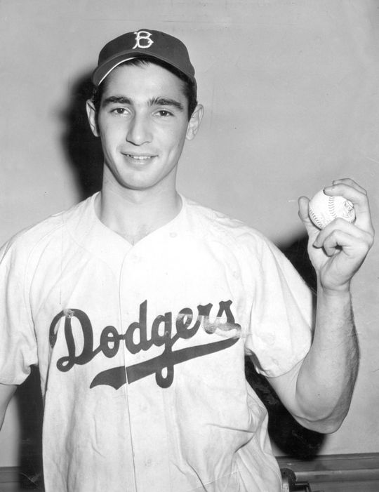 Sandy Koufax of the Brooklyn Dodgers. BL-2568.68WT2a (National Baseball Hall of Fame Library)