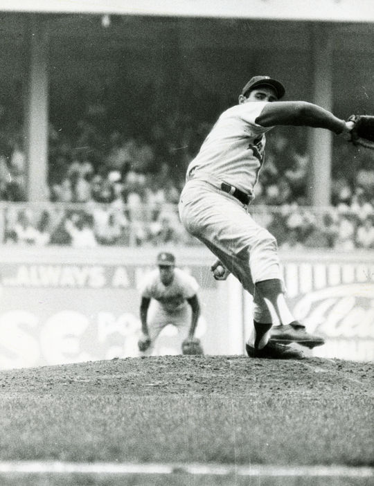 Sandy Koufax pitched for the Dodgers from 1955-1966. (National Baseball Hall of Fame and Museum)