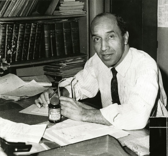 Influential African-American and Native American sportswriter Sam Lacy covered Carlos Paula for the Baltimore <em>Afro-American</em> where Lacy worked for nearly 60 years. Lacy-Sam-502-98-NBL (National Baseball Hall of Fame)
