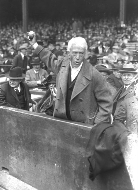 Kenesaw Mountain Landis served as the commissioner of baseball from 1920-44.  (National Baseball Hall of Fame and Museum)