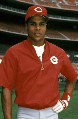 Larkin spent his entire career with the Cincinnati Reds, playing for them from 1986 to 2004. BL-1690-95 (National Baseball Hall of Fame Library)