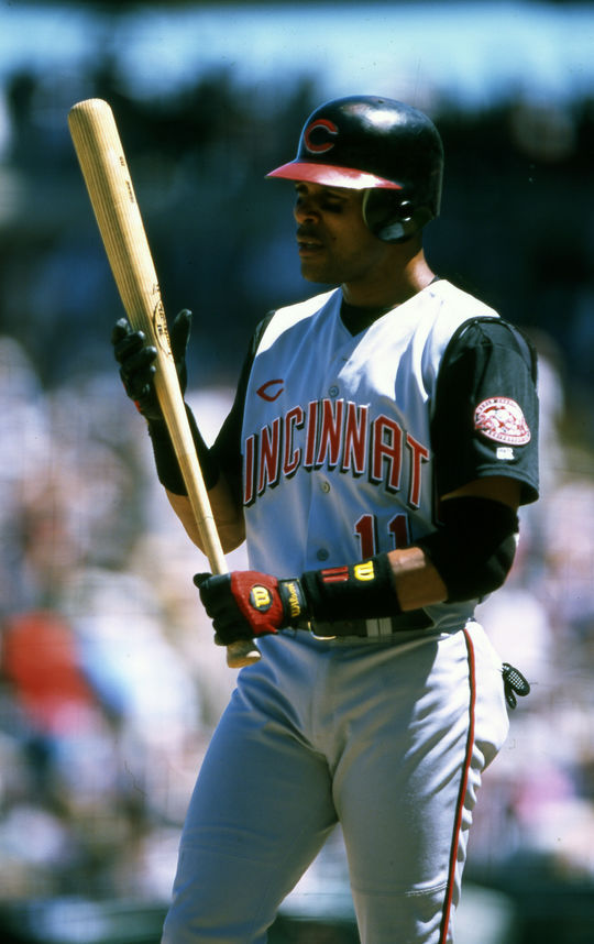 Larkin's 25 doubles and 30 steals to helped the Reds achieve a World Series title in 1990. (National Baseball Hall of Fame Library).