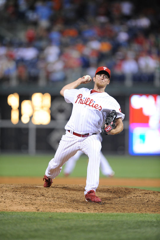 Brad Lidge saved 20-or-more games in six seasons and was a perfect 48-for-48 in saves – including Postseason – in 2008 when he helped the Phillies win the World Series. (National Baseball Hall of Fame and Museum)