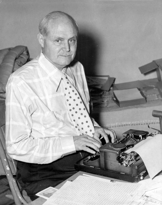 1972 J.G. Taylor Spink Award Winner Fred Lieb - BL-748-71c (National Baseball Hall of Fame Library)