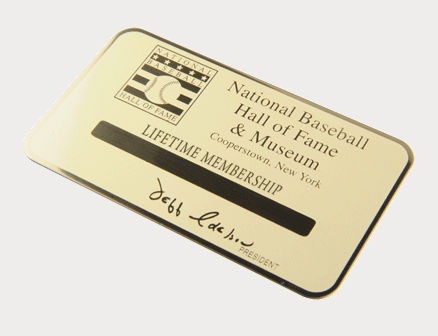 Personalized Engraved Gold Lifetime Membership Card