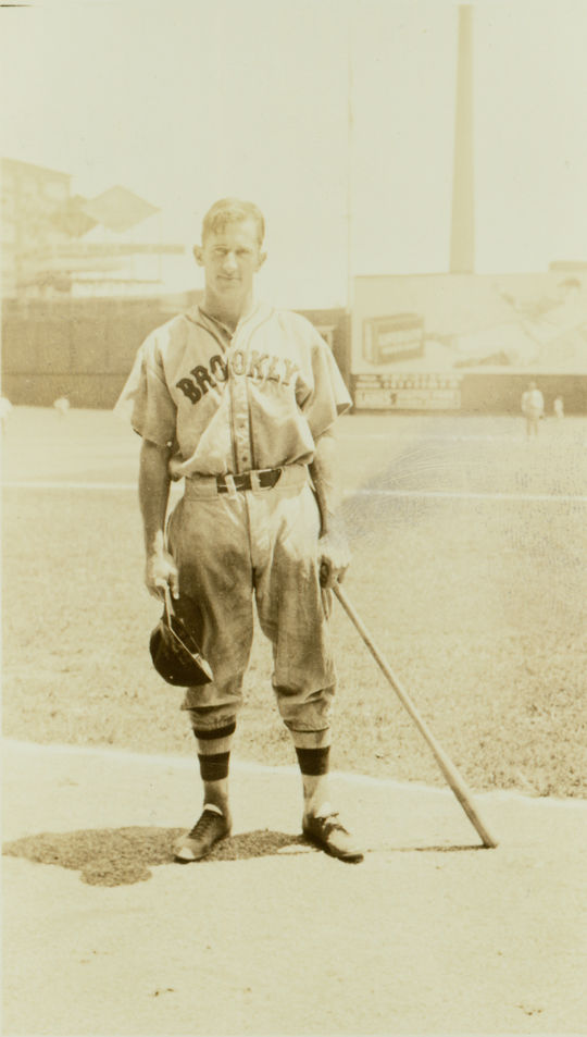 Al López began his professional baseball career with the Brooklyn Robins in 1928 at the age of 20. (National Baseball Hall of Fame and Museum)