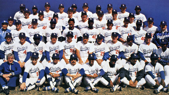 The 1978 Los Angeles Dodgers. Jerry Grote is in the third row, second from the left. BL-658.78 (National Baseball Hall of Fame Library)