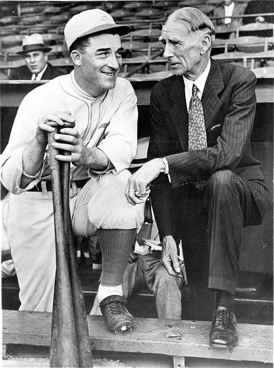 During his time playing for Connie Mack, Al Simmons hit .359, leading the majors in 1931 with a batting average of .390. (National Baseball Hall of Fame)