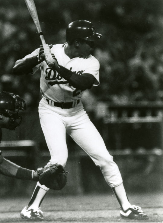 Candy Maldonado played parts of five seasons with the Dodgers. (National Baseball Hall of Fame and Museum)