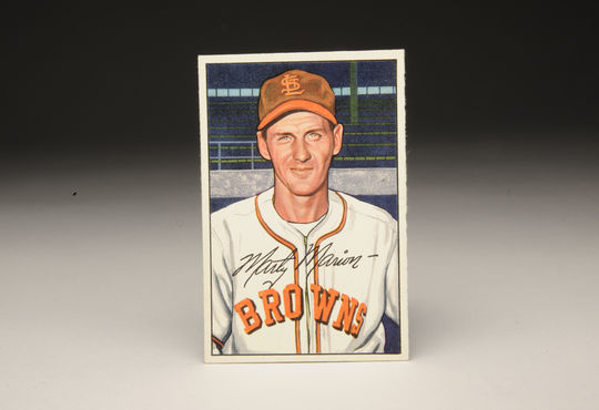 A St. Louis Browns Marty Marion baseball card. (Milo Stewart, Jr. / National Baseball Hall of Fame)
