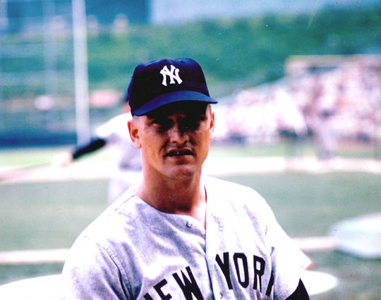 The Yankees traded Hank Bauer to the Kansas City Athletics in a deal that included Roger Maris, pictured here. (National Baseball Hall of Fame and Museum)