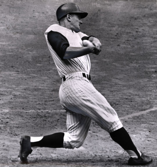 Roger Maris (pictured above) was traded from the Athletics to the Yankees on Dec. 11, 1959, in a seven-player deal that sent Marv Throneberry to Kansas City. (National Baseball Hall of Fame and Museum)