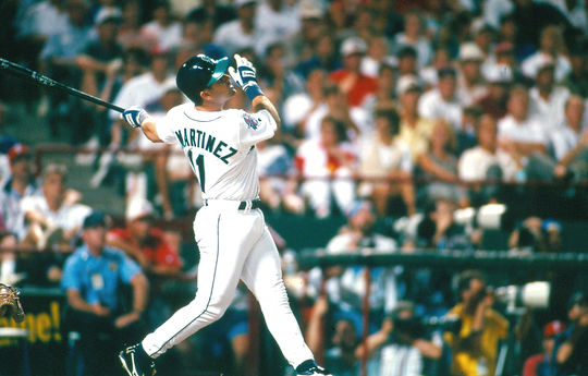 Designated hitter Edgar Martinez had eight seasons with 20-plus home runs and six seasons where he drove in 100-or-more runs. He was elected to the Hall of Fame on Jan. 22, 2019. (John Cordes/National Baseball Hall of Fame and Museum)