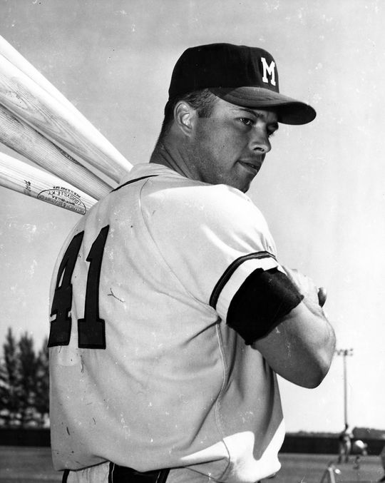 In 17 big league seasons with the Braves, Astros and Tigers, Eddie Mathews hit 512 home runs. (National Baseball Hall of Fame and Museum)