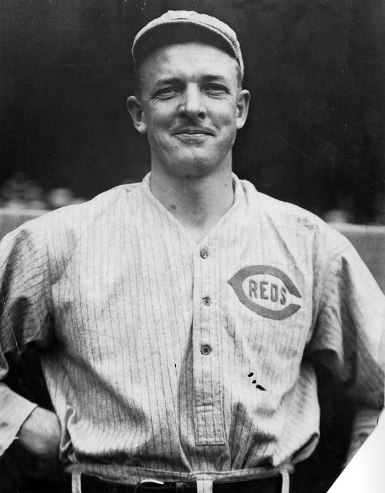 Christy Mathewson faced Mordecai Brown on Sept. 4, 1916 as a member of the Cincinnati Reds, a team he joined that year. (National Baseball Hall of Fame and Museum)