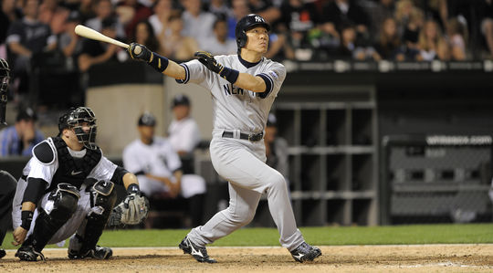 Hideki Matsui played 10 seasons in the big leagues, including seven with the Yankees. He won the World Series MVP in 2009 while leading New York to the title. (Ron Vesely/National Baseball Hall of Fame and Museum)