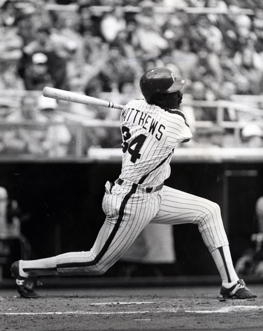 The Phillies acquired Gary Matthews from the Braves for right-handed pitcher Bob Walk in Spring Training of 1981. (Philadelphia Phillies/National Baseball Hall of Fame and Museum)