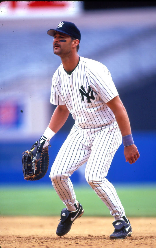 Game-action of Don Mattingly of the New York Yankees. (Rich Pilling / National Baseball Hall of Fame and Museum)