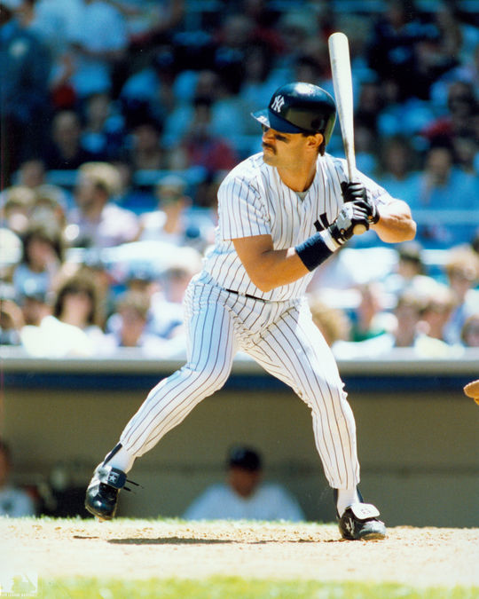 Don Mattingly of the New York Yankees batting. BL-7311-89 (Photo File / National Baseball Hall of Fame Library)