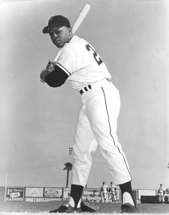 In 1956 Willie Mays powered the National League to an All-Star Game victory with a pinch-hit home run. (National Baseball Hall of Fame and Museum)