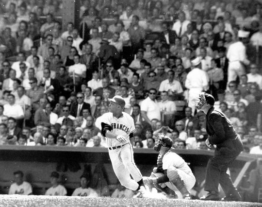 Mays began the 1966 season with 505 home runs, passing three Hall of Famers to get to his then-record of 535: Foxx's 534, Ted Williams' 521 and Ott's 511. (Fred Roe / National Baseball Hall of Fame)