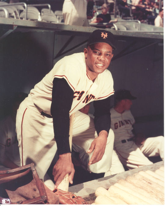Posed photograph of Willie Mays. BL-748.97 (National Baseball Hall of Fame Library)