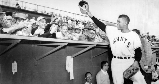 Willie Mays became the fifth member of the 500-home run club on Sept. 13, 1965. (National Baseball Hall of Fame and Museum)