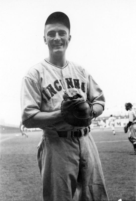 Frank McCormick all smiles in 1938. BL4721.73.78 (June Friest Collection / National Baseball Hall of Fame Library)