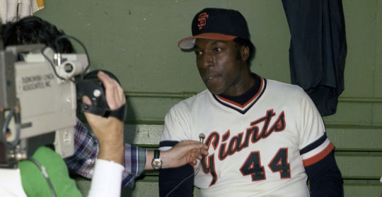 Willie McCovey hit 469 of his 521 big league home runs for the Giants, including two in one inning on June 27, 1977. (Doug McWilliams/National Baseball Hall of Fame and Museum)