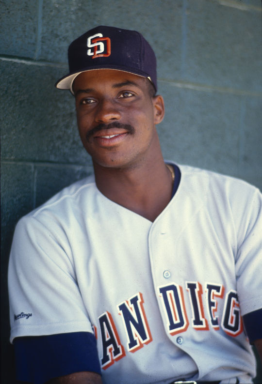 Fred McGriff reached the 30-home run mark for the Blue Jays in each of his three seasons prior to being traded to San Diego on Dec. 5, 1990. McGriff would finish his career with 493 home runs. (National Baseball Hall of Fame and Museum)