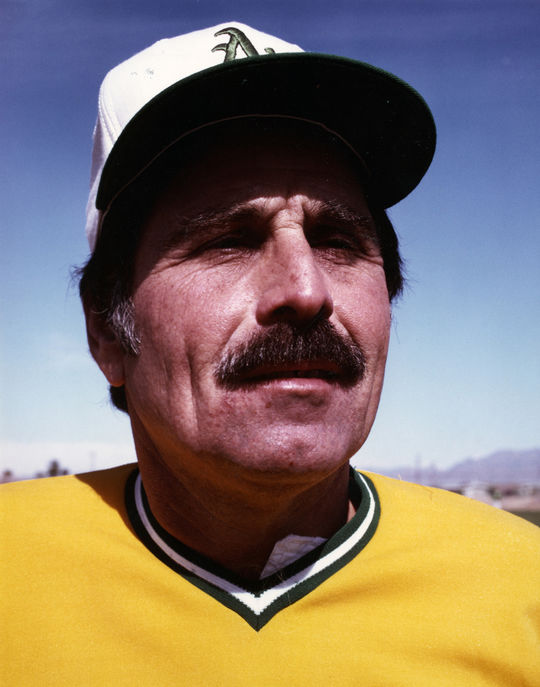 In 1977, Rich McKinney received a phone call from Oakland owner Charlie Finley, who urged him to report to Spring Training and promised him a chance at playing under new manager Jack McKeon (pictured above). (National Baseball Hall of Fame and Museum)