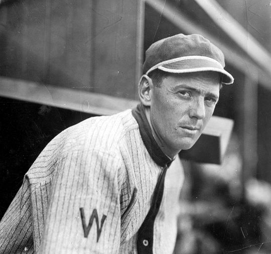 """Clyde """"Zeb"""" Milan broke Ty Cobb's single season stolen base record in 1912 with 88 steals (Cobb would later relcaim it).  Milan was friends and roommates with Walter Johnson.  Milan-Clyde-2860.68WTe_HS_PD  (National Baseball Hall of Fame and Museum)"""