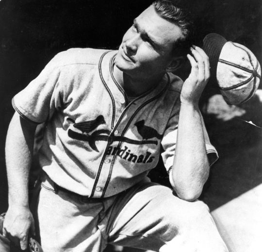 During his time as a Redbird, Johnny Mize never batted less than .314 and totaled 158 home runs. (National Baseball Hall of Fame and Museum)
