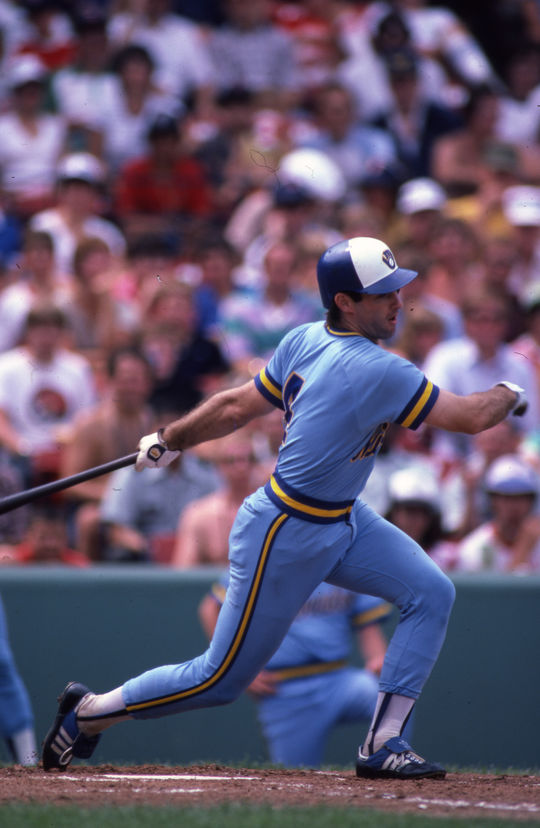 On Aug. 26, 1987, Milwaukee Brewers designated hitter and future Hall of Famer Paul Molitor's hitting streak came to an end after 39 games. (Rich Pilling / National Baseball Hall of Fame and Museum)