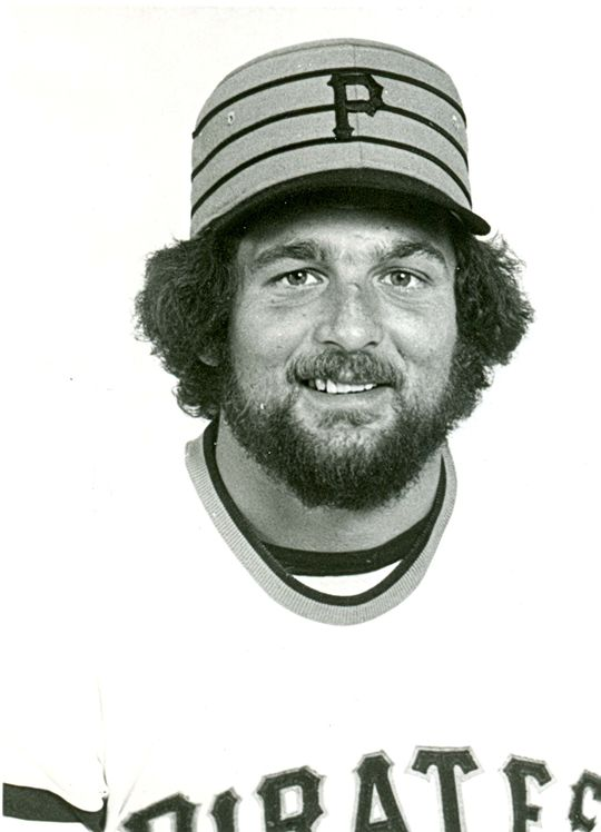 A head shot of Pittsburgh Pirate Bob Moose in 1976. BL-1129.79 (National Baseball Hall of Fame Library)