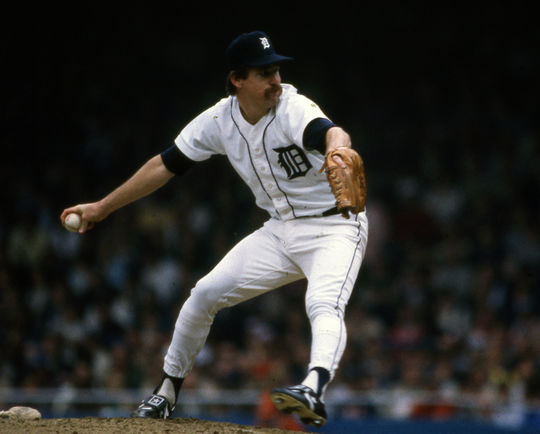 Pitcher Jack Morris led the way for the Detroit Tigers in 1984 with 19 victories. (Rich Pilling / National Baseball Hall of Fame and Museum)
