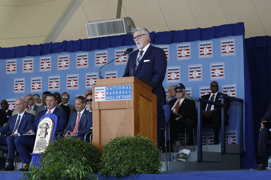 Jack Morris fought back the tears as he delivered an emotional Induction Speech on Sunday, July 29. (Milo Stewart Jr./National Baseball Hall of Fame and Museum)