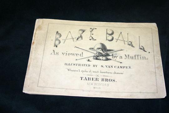 """The book """"Base Ball as Viewed by a Muffin,"""" by Henry Chadwick BL-1607.75 (Milo Stewart, Jr. / National Baseball Hall of Fame Library)"""